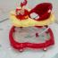 kırmızı renkli bebek yürüteci